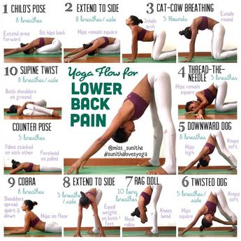 Yoga sequence for lower back pain #ad #yoga #lowerback #yogasequence #yogateacher #stretches