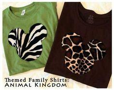 Making Custom Family Shirts for Disney Animal Kingdom - a DIY how-to