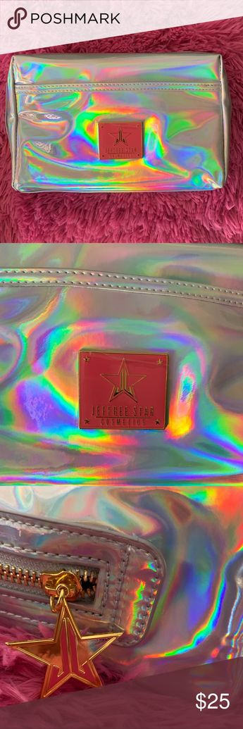 Jeffree Star makeup bag Jeffree Star Holographic Silver makeup bag. Brand new. Jeffree Star Bags Cosmetic Bags & Cases