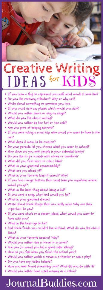 Creative Writing Ideas for Kids!