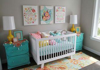 41 Ideias para decorar quarto de bebê menina