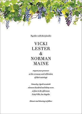 Napa Wedding Invitation