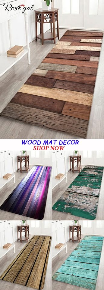 Wood mat Anti-slid Floor Area Rug for House Decoration #Rosegal #mat #decoration