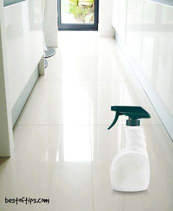 HOW TO CLEAN DIRTY TILE FLOORS WITH VINEGAR AND BAKING SODA