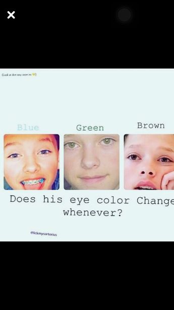 True I think they do I like all of his eye colors so much