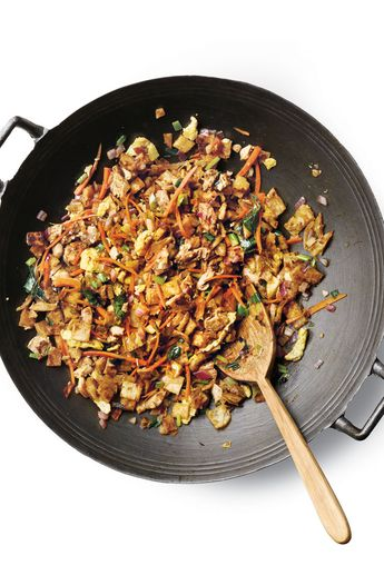 NYT Cooking: This recipe for kottu roti, a popular Sri Lankan street food, comes from Sanjeewa Gooneratne, who prepares the dish at events around New York on a griddle the size of a sled. A flaky flatbread is stir-fried with eggs and spices and finished with a curry sauce. Don't let the long list of spices deter you from making the dish. You can omit a few and still experience its fantastic depths of flavor.