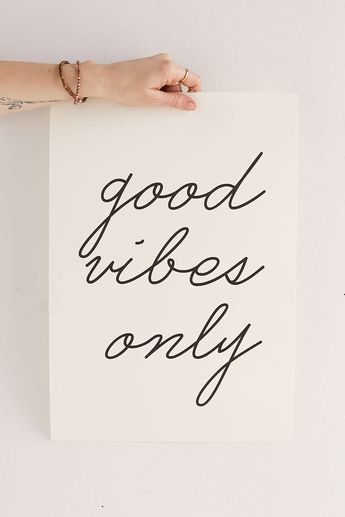 Letters On Love Good Vibes Only Art Print