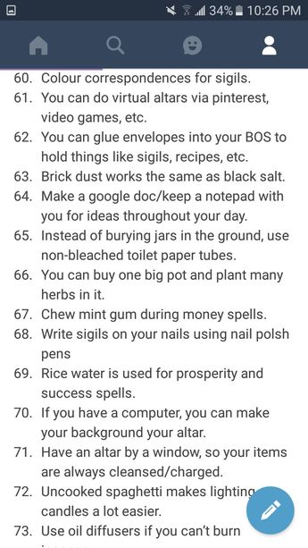 100 Witch Tips Part 6