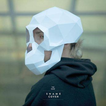 Monkey Skull MaskApe MaskPolygon MaskHalloweenDIY PaperPDF