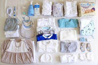 La valise maternité de bébé.
