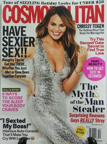 Details about Cosmopolitan December 2016 Chrissy Teigen Have Sexier Sex FREE SHIPPING sb