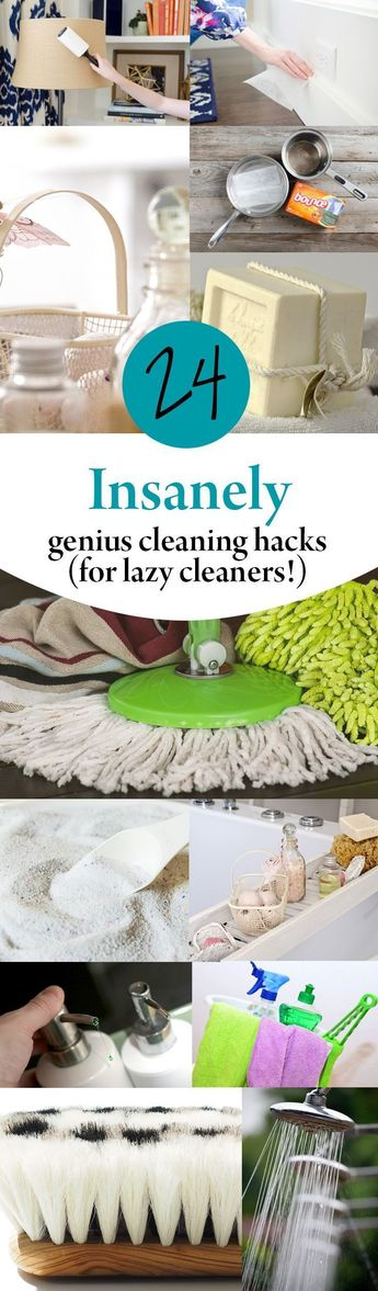 24 Insanely Genius Cleaning Hacks (for Lazy Cleaners!)