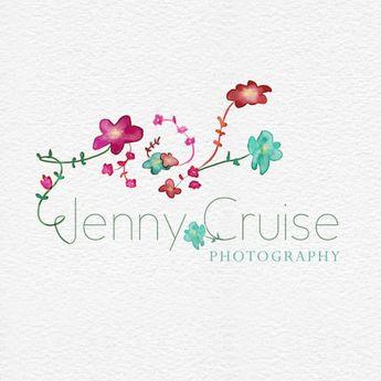Watercolor Botanical Logo : Envye, A Design Shop by Wonder Forest