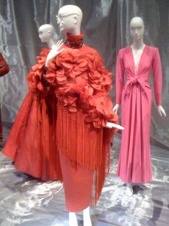 Iris Apfel, Pertegaz:Madrid shawl, Gianfranco Ferre skirt, 1970s-80s, Annette de la Renta, YSL evening dress, 1985 ----- for Solange