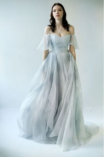Youdesign Organza Gown In Sky Blue Colour Size Upto 66