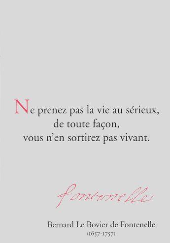 Citations, Fontenelle, Jacques Prévert, Oscar Wilde, Pythagore