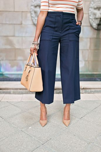 What to Wear To Work Monday: The PERFECT Culottes!