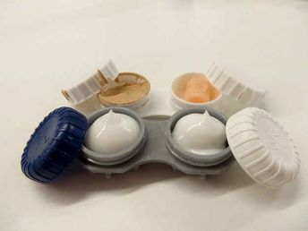 If you want to bring a small amount of concealer or lotions, put them in contact cases.