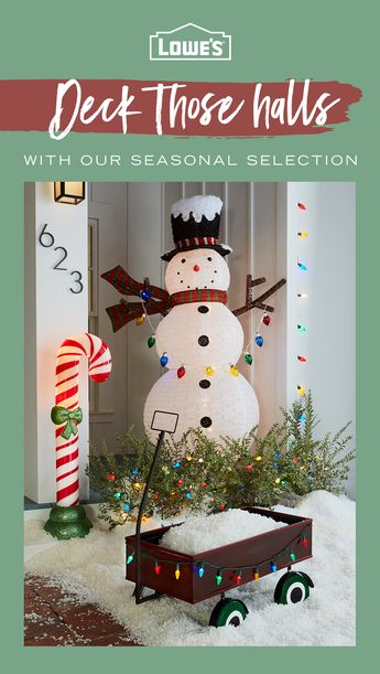 It's that time of year again! Get in the swing of the season by decking the halls with Lowes.com – tap the Pin to see more.