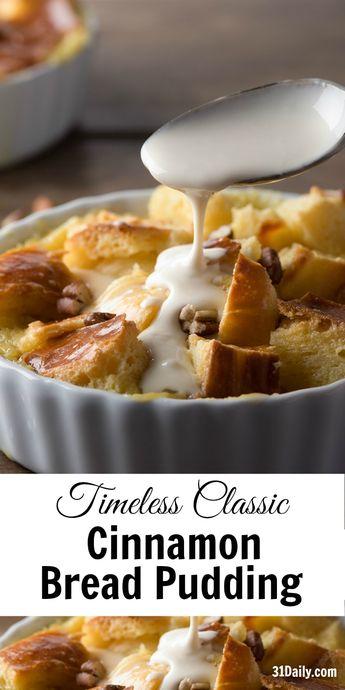 Timeless Classic: Cinnamon Brioche Bread Pudding