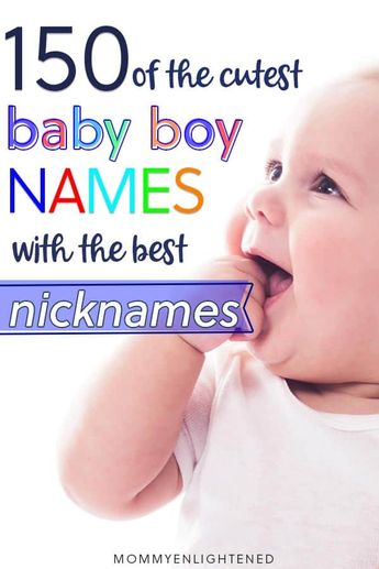 The Best Boy Names with Nicknames (that aren't weird)