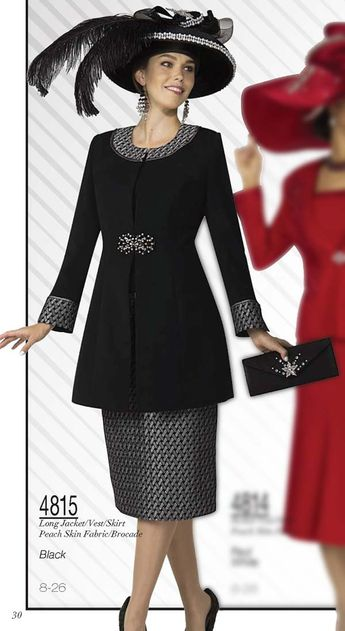 8f9ac3f2593 Womens Designer Church Suits BenMarc 3pc Suit 4446
