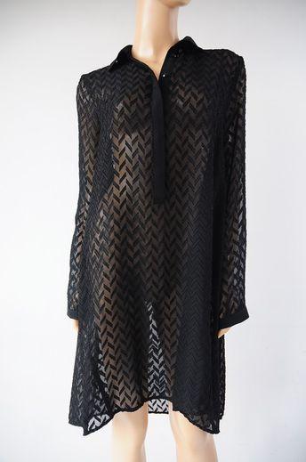e5fd2554a7 Sukienka czarna transparentna r. 40   42 Sisley