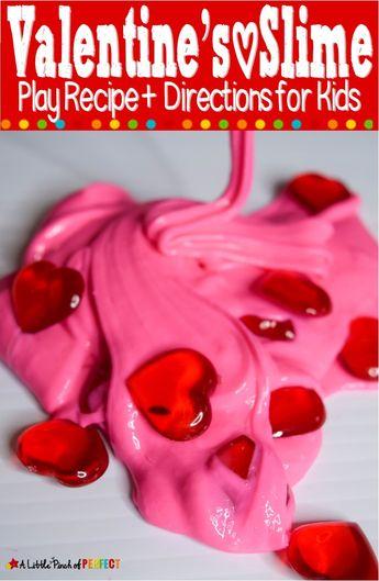 Valentine's Day Slime Recipe for Kids -