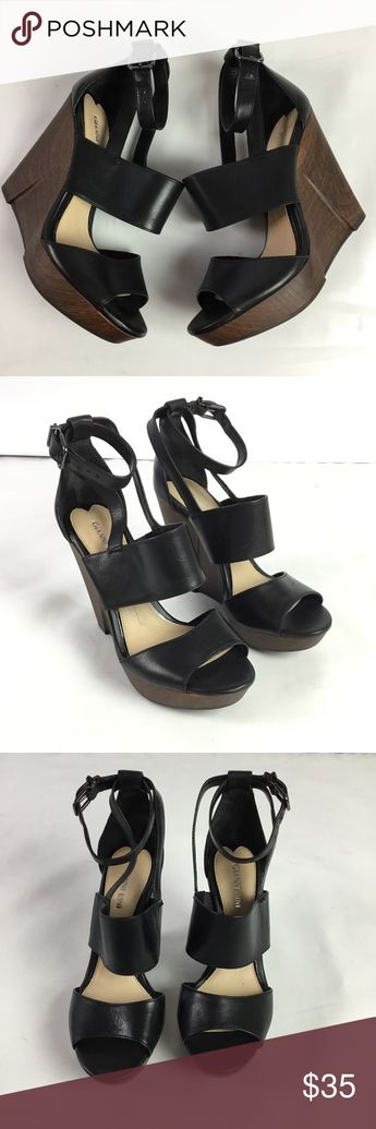 eb616824824 Women s Gianni Bini Aleah Bandage Wedge Sandals 7 Gorgeous pair of leather wedge  sandals with high
