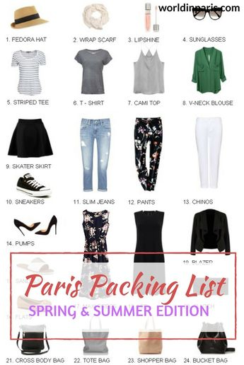 Packing for Paris: What to Wear in Paris Summer & Spring 2019