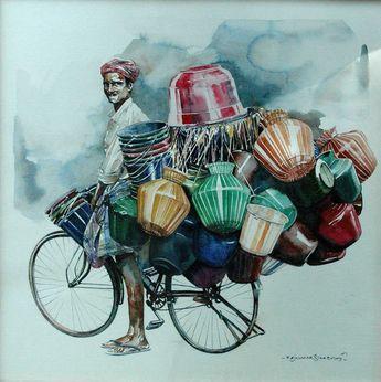 "Indian Watercolor Artist- ""Rajkumar Sthabathy"" 1975 - Fine Art and You - Painting| Digital Art| Illustration| Portrait"