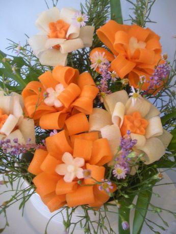 Vegetable Ribbon Flowers by Chuncarv.devianta