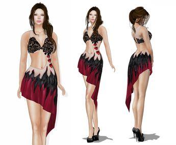 WEEKEND SALE %50 OFF!!! MI Rigged Mesh Harper Girl Dress a6ff89ca9