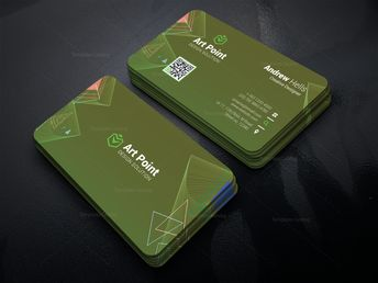 Green Professional Corporate Visit Card Template 001325 - Template Catalog