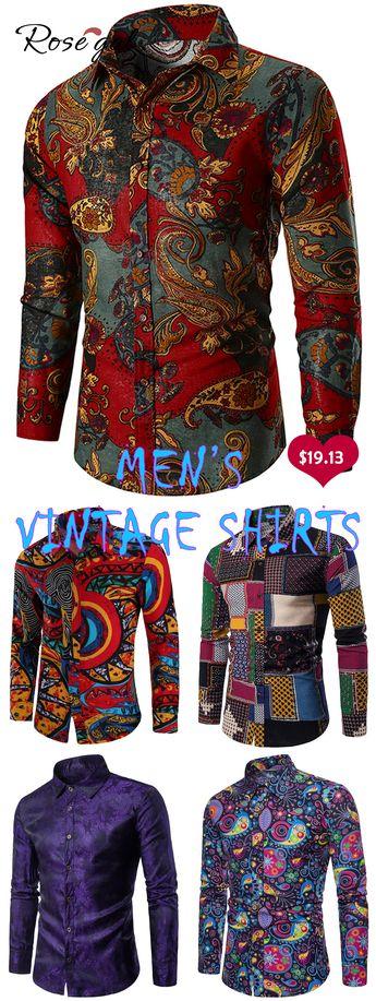Free shipping over $45, up to 75% off, Rosegal Ethnic Paisley Print Long Sleeve Shir   #rosegal #shirts #mensfashion #springoutfits #vintagefashion