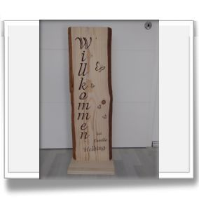 Galerie Hölzer - Schrift Sprüche in Holzschwarte Holzschilder