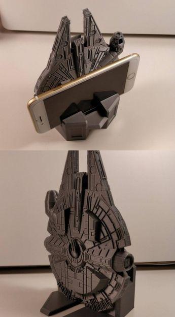 3D Printed Millennium Falcon Smartphone Stand