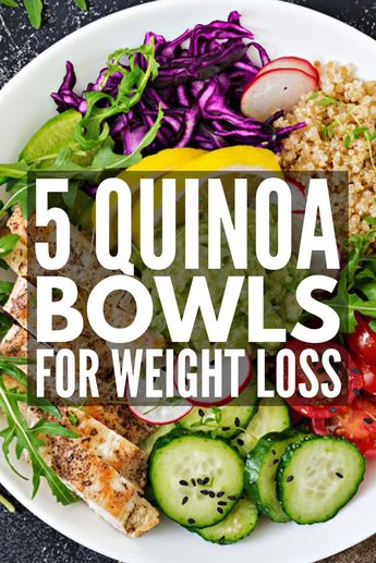 5 Quinoa Power Bowl Recipes | Lunches and dinners just got easier – and more delicious – with this collection of quinoa-inspired power bowls. You can even eat them for breakfast! We've included a whole bunch of additional recipe inspiration using a variety of ingredients, like chicken, beef, brown rice, and plant-based protein, and we're sharing some super helpful power bowl meal prep tips to boot! #powerbowls #powerbowlrecipes