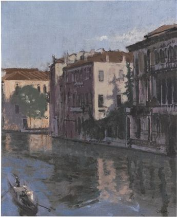 Walter Richard Sickert (British, 1860–1942) Title: A canal, Venice: Palazzo Montecuccoli , ca. 1901–1904 Medium: oil on canvas Size: 46 x 38 cm. (18.1 x 15 in.)