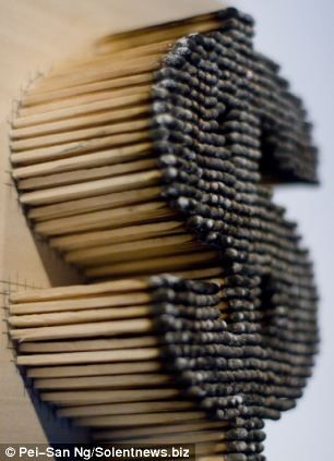 Amazing blaze! Artist produces works made from matchsticks - and then sets them on fire