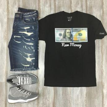 "@threadz_atlanta on Instagram: ""#Threadz ... #Ootd features #NewMoney tee by #FlySupplyCo #CultDenim shorts and #coolgrey11s ... #Fresherthanuraverage #Outfitgrid…"""