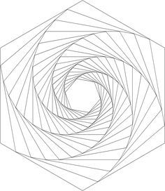Drawing geometric whirls- with templates!
