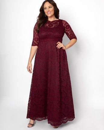Leona Glitter Lace Gown