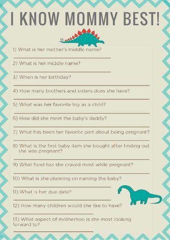 Dinosaur Baby Shower Printable Games