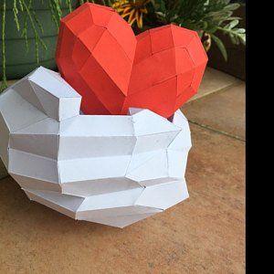 Papercraft Little Panda, DIY Paper craft, 3D template PDF kit, make your own low poly baby panda, or