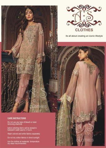 2eea7eca02 Firdous Cotton Dresses - Embroidered Chiffon Dupatta - Repl