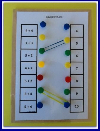 Επιτραπέζιο παιχνίδι πράξεων με πινέζες και λαστιχάκια!         -          ΗΛΕΚΤΡΟΝΙΚΗ ΔΙΔΑΣΚΑΛΙΑ