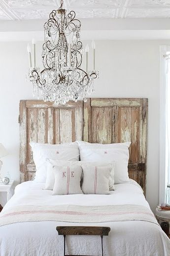 What could be more rustic and romantic at the same time??? Vintage doors set side by side and heavy distressed to achieve this look... I have