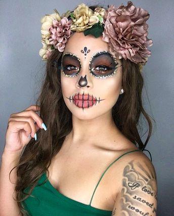 Glam Skull Makeup Idea
