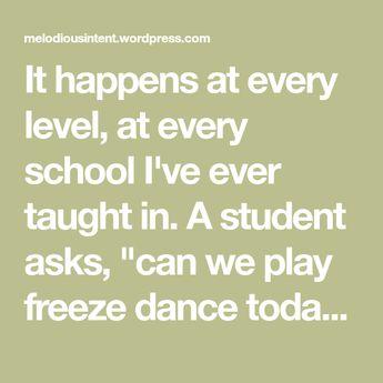 Six Alternative to Freeze Dance